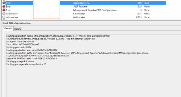 Management Reporter Configuration Console Stopped working